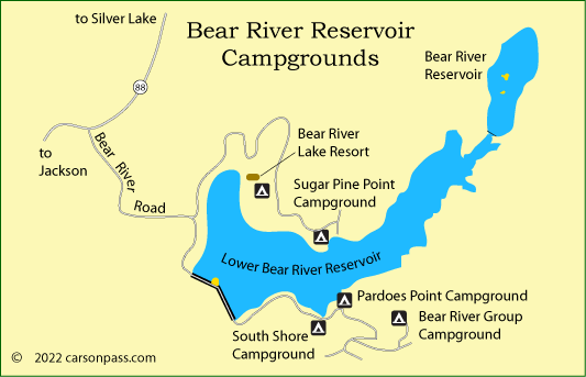 Bear River Reservoir Area Camping
