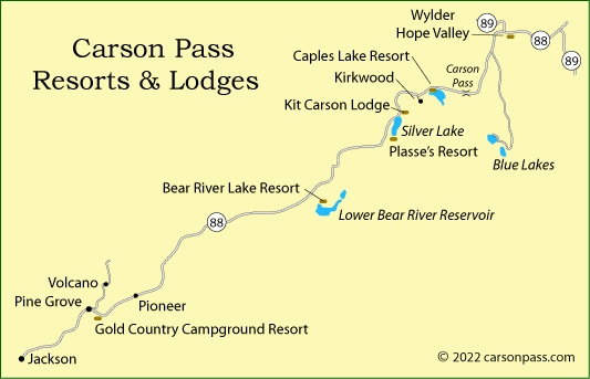 Carson Pass Resorts And Lodges