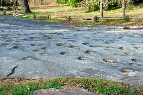 grinding rock at Indian Grinding Rock State Historic Park